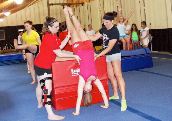 Gymnastics at Camp Lohikan