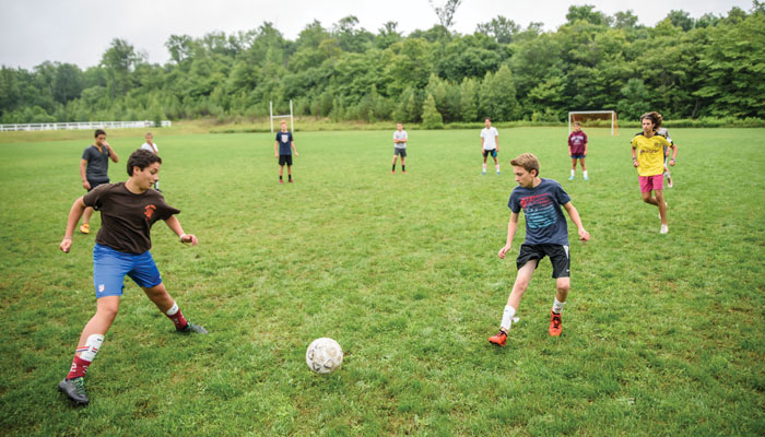 Soccer at Camp Lohikan