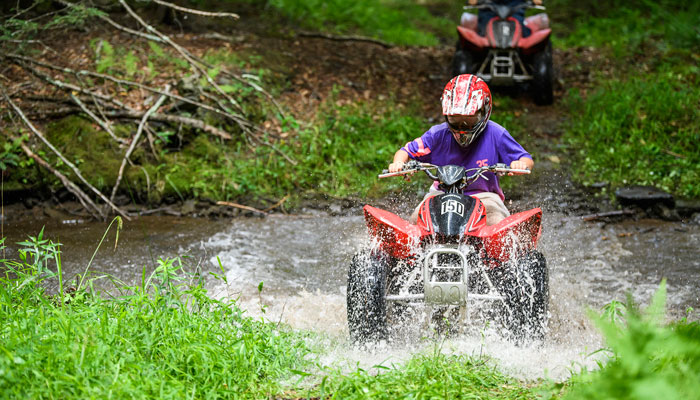 Pennsylvania Residential Summer Camp ATV Riding, Quad Riding