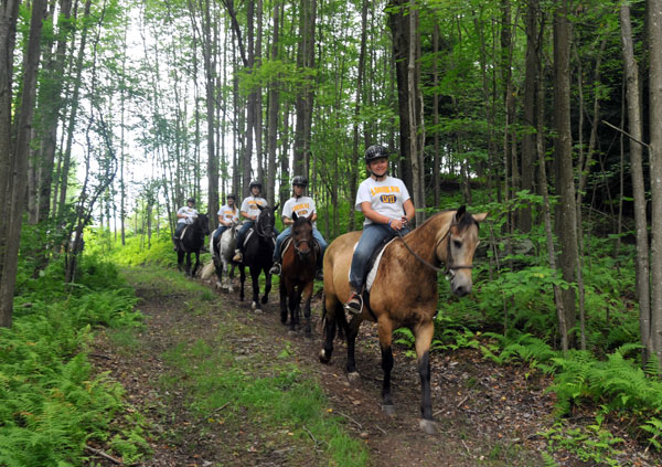 Horseback Riding at Camp Lohikan